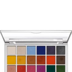 For Avant Garde and High Fashion Makeup use Kryolan Shimmering Vision Palette 18 Colors from AMUA Pro Store is open to the public! for $58.50