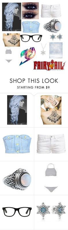 """""""Jesica snow oc fairy tail"""" by miss-mysterius ❤ liked on Polyvore featuring Girl With the Temporary Tattoo, Love Moschino, Le Temps Des Cerises, Topshop and Pandora"""