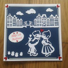 Kaart gemaakt met nieuwe mallen van Amy Design : oud Hollands.