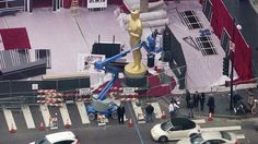 Final preparations were underway Friday night in anticipation of Sunday's Academy Awards show including the possibility of rain. Kimberly Cheng reports from Hollywood for the KTLA 5 News at 10 on F...