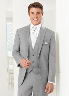 Jean Yves Heather Grey Ceremonia Suit