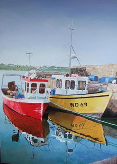 Fethert Quay, Wexford. Ireland Oil on canvas. Laura Gibney.