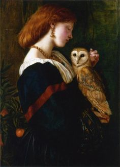 The Owl - Valentine Cameron Prinsep, 1863 | I could pin this painting a million times.