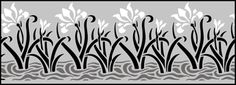 Click to see the actual 86 - Iris In Water stencil design.