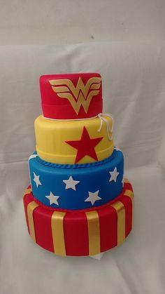 Birthday Cakes For Women, Birthday Party Themes, Fondant Cakes, Cupcake Cakes, Bolo Da Minnie Mouse, Wonder Woman Cake, Poke Cakes, Birthday Woman, Cake Designs