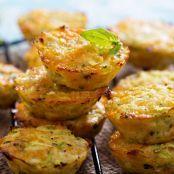 Mini quiches de calabacín, queso y espinacas