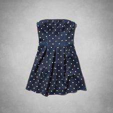 girls strapless skater dress