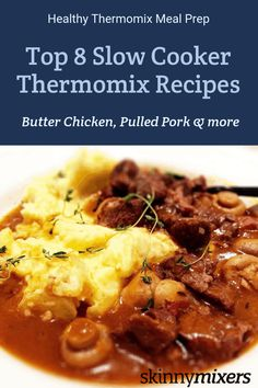 Top 8 Healthy Slow Cooker Thermomix Recipes from Skinnymixers! Simple, delicious & gluten free dinners that the family will love. Healthy Slow Cooker, Healthy Meal Prep, Slow Cooker Recipes, Cooking Recipes, Slow Cooked Greek Lamb, Slow Cooked Pulled Pork, Slow Cooking, Thermomix Recipes Healthy, Allergies Alimentaires