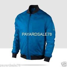 Remy Flight/Bomber Leather Regular Coats & Jackets for Men Thermal Jacket, Nike Golf, Cool Things To Buy, Stuff To Buy, Rain Wear, Nike Running, Nike Jacket, Motorcycle Jacket, Blue Nike