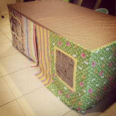 Custom made table top cubby houses. No more sheets. Great designs available for girls or boys or both!