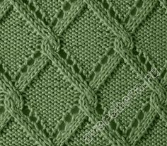 Diamond lace and cable pattern