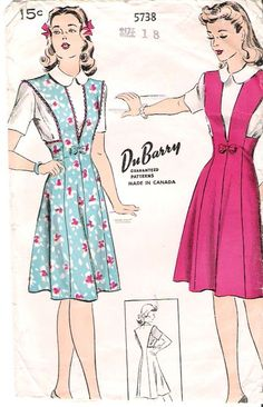 Vintage Midi Dresses, 1940s Dresses, Vintage Outfits, 1950s Fashion Women, Retro Fashion, Vintage Fashion, Girl Dress Patterns, Vintage Dress Patterns, Little Dresses