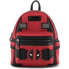 Loungefly X Marvel Deadpool Suit Mini Backpack Red Black Marvel Clothes dfe040959284c