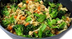 Chicken and Veggies Stir Fry, Low Calorie and Super Yummy - Weight Watchers Recipes