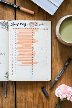 Keep track of you sleep in this bullet journal collection - sleep tracker