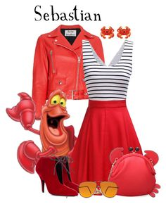Sebastian - Disney's The Little Mermaid by rubytyra featuring red handbags Disney Bound Outfits Casual, Cute Disney Outfits, Disney Themed Outfits, Disney Dresses, Princess Inspired Outfits, Disney Princess Outfits, Disney Inspired Fashion, Disney Fashion, Disney Character Outfits