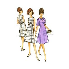 1960's Princess Line Dress Pattern, McCall's 7124, Easy Vintage Sewing Pattern, Uncut