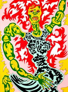 """Image by Karl Wirsum on the cover of the awesome book Chicago Imagists. """"In the Chicago was the second largest city in the United States and the site of cultural and political. Chicago Imagists, Chicago Store, Art Brut, Pop Surrealism, Western Art, Popular Culture, Les Oeuvres, Fantasy Art, Cool Art"""
