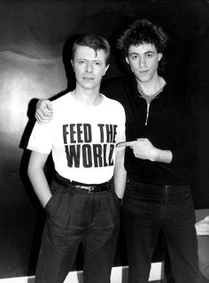 With Bob Geldof.