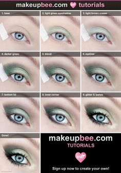 DIY  Step-By-Step #Makeup #Tutorial For Gorgeous Green Look