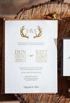 Winter Wonderland Rustic Wedding Invitation by GraceandLaceDesign