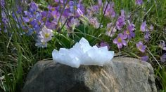 Clear Quartz geode cluster  This Clear Quartz cluster comes from Bulgaria and specifically from the marvelous and magical Rhodope Mountains. The Rhodope