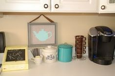 Coffee station, cute concept to add color