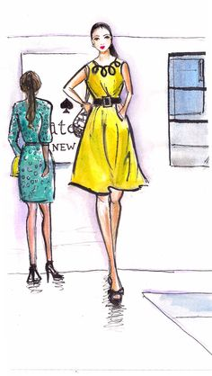Kate Spade illustration