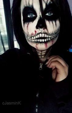zombie skeleton makeup