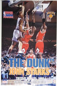 John Starks- New York Knicks BABY!  This was my favorite poster from my college days.