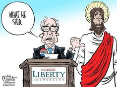 The gist of Bernie's speech to that conservative christian university