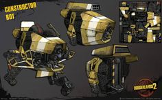 Weapon And Props of Borderlands 2 by Gearbox Software Borderlands 1, Life Drawing, Drawing Things, Grunge Art, Space Pirate, Futuristic Technology, Environment Concept Art, Weird Creatures, Game Art