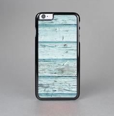The Subtle Blue Vertical Aged Wood Skin-Sert for the Apple iPhone 6 Skin-Sert Case