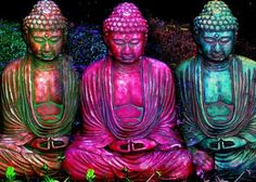 color #hippie #buddha #colors: would be awesome in the yard
