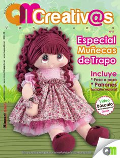 Nueva #Revista QMCreativ@s Especial de #Muñecas de Trapo --->> www.minauri.com Plushie Patterns, Stuffed Toys Patterns, Doll Clothes Patterns, Doll Patterns, Sewing Magazines, Doll Tutorial, Soft Dolls, Diy Doll, Fabric Dolls