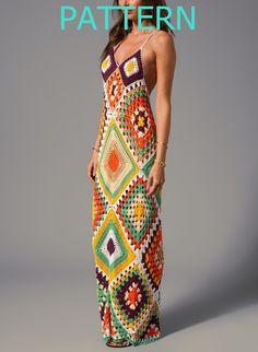 Muster-lange sexy häkeln Kleid Sommer Strand oberen von CopperLife