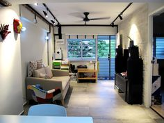 Check out this Eclectic-style HDB Living Room and other similar styles on Qanvast. Interior Design Singapore, Apartment Living, Home Renovation, Interior Design Living Room, Small Spaces, House Design, Reno Ideas, Eclectic Style, Bunker