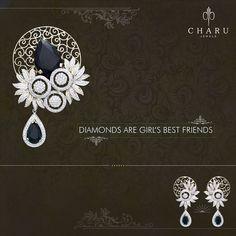 #Diamonds The Friends...  #Indian #Traditional #Diamond #jewelleryby #charu #jewels #surat