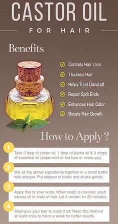 Castor Oil For Hair Growth, Oil For Hair Loss, Hair Growth Tips, Diy Hair Growth Oil, Healthy Hair Growth, Hair Loss Help, Best Oil For Hair, Fast Hair Growth, Diy Hair Oil