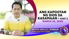 & Wrath of God in Evil - Part by Pastor Apollo .-'Ang Kapootan ng Dios sa Kasamaan – Part by Pastor Apollo C. Quiboloy & Wrath of God in Evil – Part by Pastor Apollo C. Spiritual Enlightenment, Spirituality, Thank You Pastor, New Jerusalem, Kingdom Of Heaven, Simile, Son Of God, Praise And Worship, Apollo