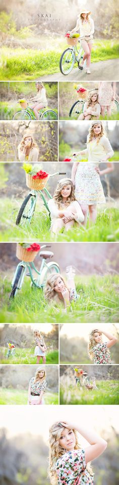 Great poses, love the bike (it's just like mine!), awesome photos in general, and you should follow her on fb like I do. :) I'd love to do a vintage bike shoot like this!                                                                                                                                                      More