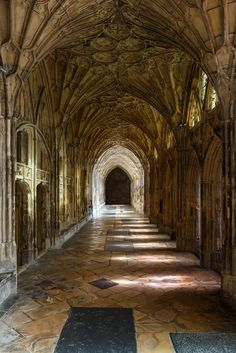 Cloister walk - Gloucester Cathedral, England by mym