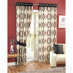 ... Retro Curtains Modern Window Curtains Mid Century Listed In Window Treatment with Retro Curtains ...