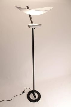 Zen by Artemide, Tall Halogen Floor Lamp Vintage Modern, 1980s, Italy | From a unique collection of antique and modern floor lamps at https://www.1stdibs.com/furniture/lighting/floor-lamps/