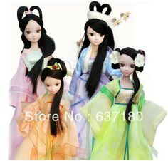 Free shipping Kurhn Chinese costume clothes Ba ordinary beautiful headdress than four seasons Fairy Girl Doll Toy gift for girl