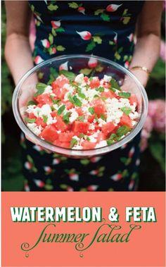 Friday's Fixin's: Summer Watermelon and Feta Salad