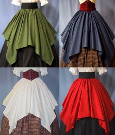 Overlay Skirt for Costume - Lots of Colors - Renaissance Faire - Pirate Wench - Handmade