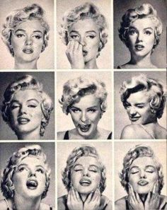 Monroe -- often Movie Studio's do this type of photo shoot where they have an actor do EXTREME faces ... to see the gamut of expression.