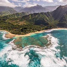 Tunnels Beach Kauai in #Hawaii #Travel #Wanderlust