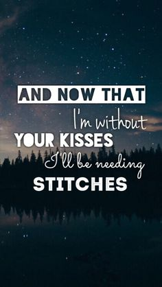 Stitches // Shawn Mendes I love this song so much!!
